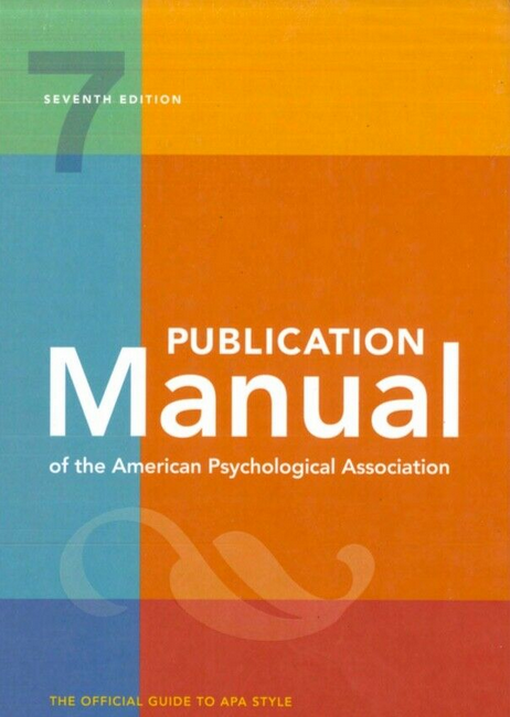 Publication Manual of the American Psychological Association 7th Edition 15