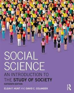 (Electronic Book) Social Science : An Introduction to the Study of Society 16e 9