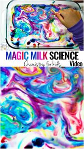 Magic Milk Science Experiment for Kids with Video - Montessori Science - Natural Beach Living 7