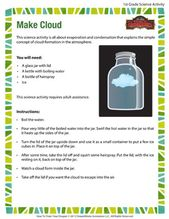 Make Cloud – Fun Science Activity for 1st Grade 1