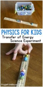 Transfer of Energy Science Experiment - Frugal Fun For Boys and Girls 2