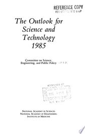 The Outlook for Science and Technology 1985 PDF Download 1