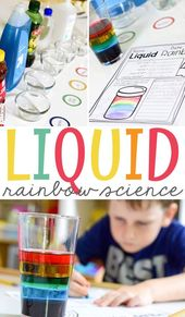 Liquid Rainbow Science Experiment - Mrs. Jones Creation Station 4