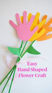 Easy Hand Shaped Flower Craft 1