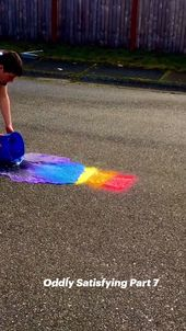 Rainbow Colors with running water! Oddly Satisfying Part 7 1