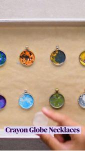 Crayon Globe Necklaces 1