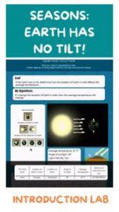Earth has no tilt! Seasons! Introduction Lab Science 3