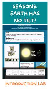 Earth has no tilt! Seasons! Introduction Lab Science 1