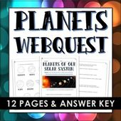 Planets of the Solar System - Webquest with Answer Key 2
